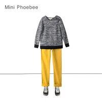 Phoebee брендовый трикотажный костюм для мальчика от 3 до 8 лет зимний костюм из трикотажного свитера и штанов вязанный жакет детская новогодня