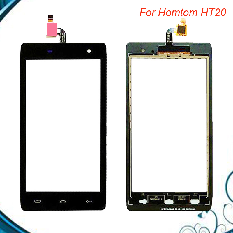 High Quality For Homtom HT20 Touch Panel Touch Screen 4.7 Digitizer Replacement For Homtom HT 20 Phone Accessories