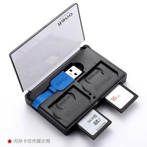 Image 3 - Llano 4 in 1 USB 3.0 Smart Card Reader für SD/TF Speicher Karten Flash Multi Kartenleser 2 Karten gleichzeitige Lesen Schreiben