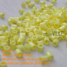 2016 Papelaria 5mm Perler Beads ~champagne Yellow Id:50 ~ Hama Fused Educational Toys Guaranteed 100% Quality + Free Shipping(China)