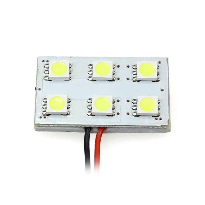 AUTO carro-styling automóveis T10 BA9S 6 SMD 5050 LED Dome Car Interior Festoon COB LED Lâmpadas Luz do carro styling Jul 18