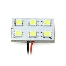 AUTO automobiles car-styling 6 SMD 5050 LED T10 BA9S Dome Festoon Car Interior COB LED Light Lamps car styling Jul 18(China)
