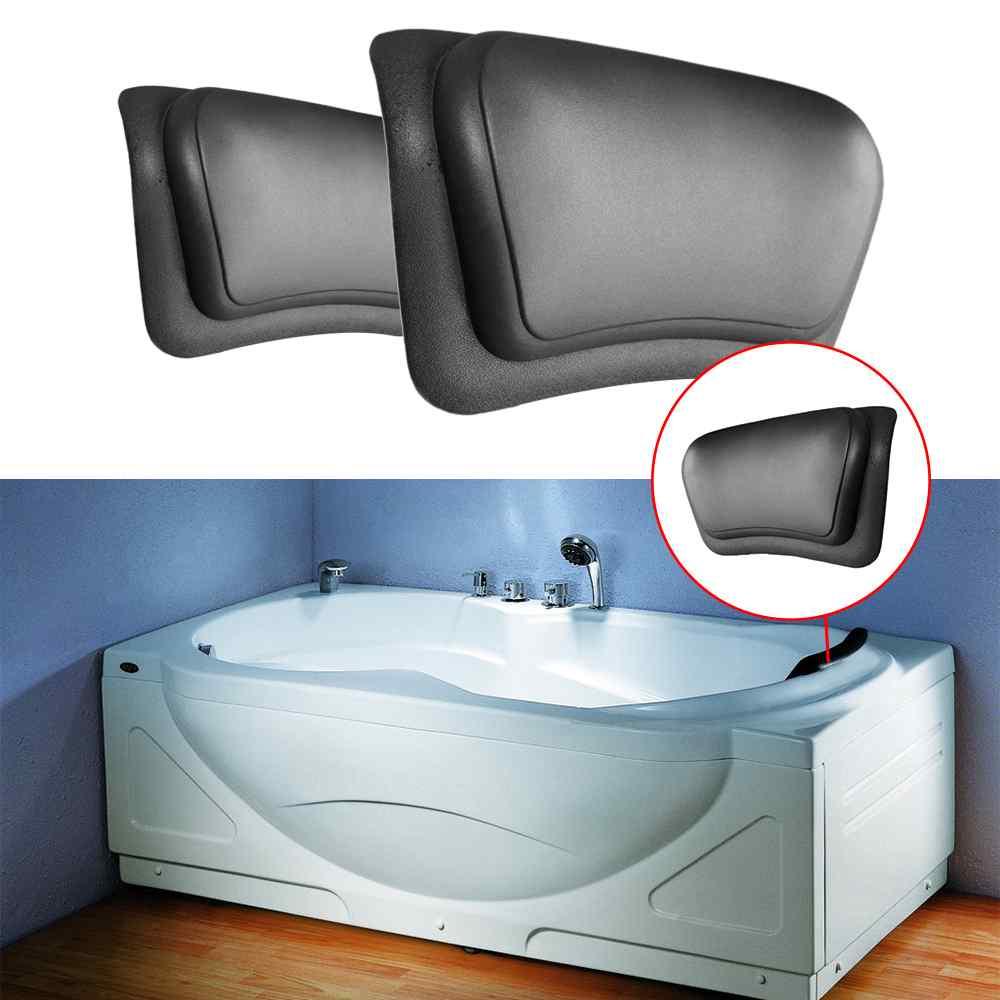 Maior desconto spa banheira travesseiro macio massagem travesseiro encosto de cabeça banheira travesseiro com encosto ventosa fornecimento do banheiro