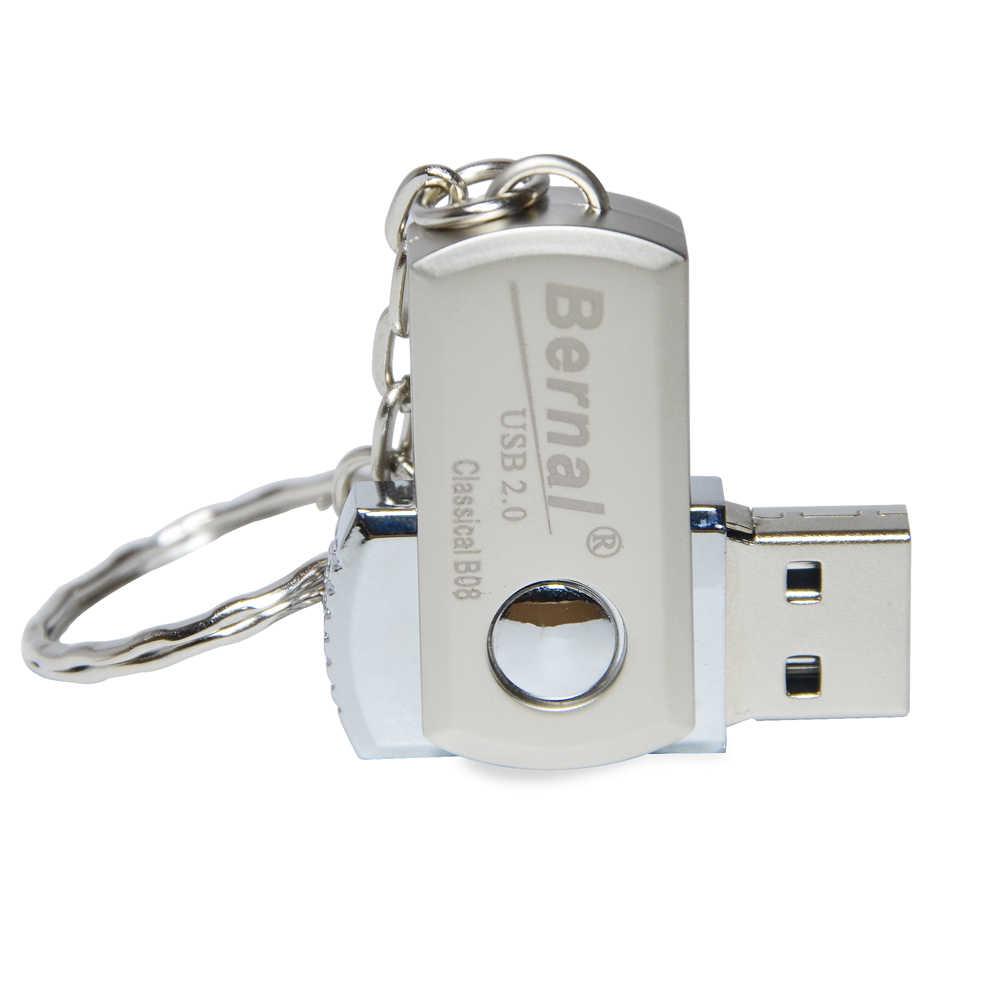 Bernal de acero inoxidable mini pen drive 32GB 64GB pendrive usb de alta velocidad de Flash 2,0 unidad de disco flash 16gb USB FLASH drive