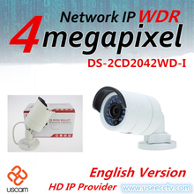 Английская Версия 4.0 Мегапиксельная Ip-камера DS-2CD2042WD-I 4 мм ИК Пуля Камеры Безопасности поддержка H264 + Правда WDR POE