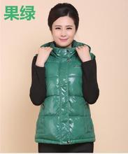 Women Autumn Plus Size waterproof Hooded Zip Down vests female oversized Sleeveless down waistcoat lady thick warm down jacket