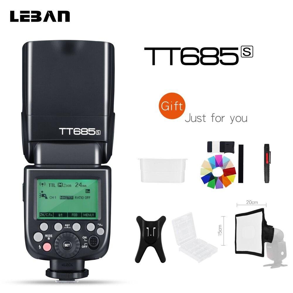 New Godox TT685S 2 4G HSS 1 8000s TTL II GN60 Camera Flash Speedlite for Sony