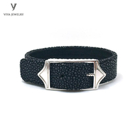 Adjustable Size 15mm Wide Men Watch Band Jewelry Bracelet Fashion Cuff Wide Leather Cords Bracelet Best