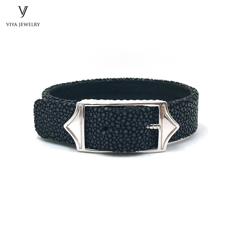 Adjustable Size 15mm Wide Men Watch Band Jewelry Bracelet Fashion Cuff Wide Leather Cords Bracelet Best Gift For Stylish Guy