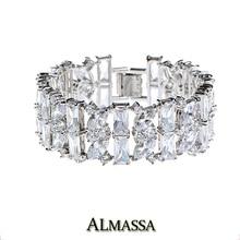 FEEROW Gorgeous Marquise & Rectángulo Cluster Cubic Zircon Del Diamante de Lujo de Calidad Superior Pulseras de Cadena Para La Boda FWBP064