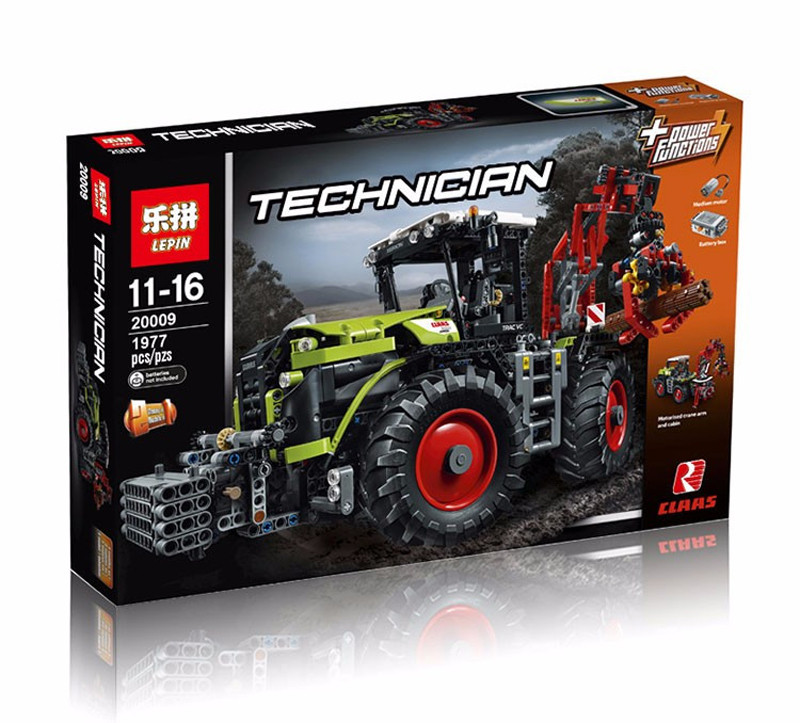 2017 New LEPIN 20009 1977Pcs Technic Technic Claas Xerion 5000 Trac Vc Model Building Kit Blocks Brick Compatible Toy Gift 42054 siku трактор claas xerion 5000