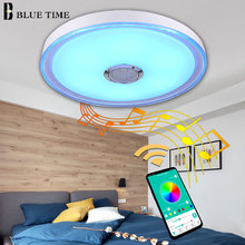 Simple Modern Led Chandelier Ceiling Mounted Bluetooth Speaker Musica Lamp Lighting 49cm 36W Acrylic Cover Metal Body