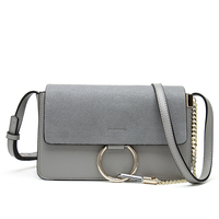 Fashion Womens Brand Design Chain Detail Cross Body Bag Ladies Shoulder Bag Clutch Bag Bolsa Franja