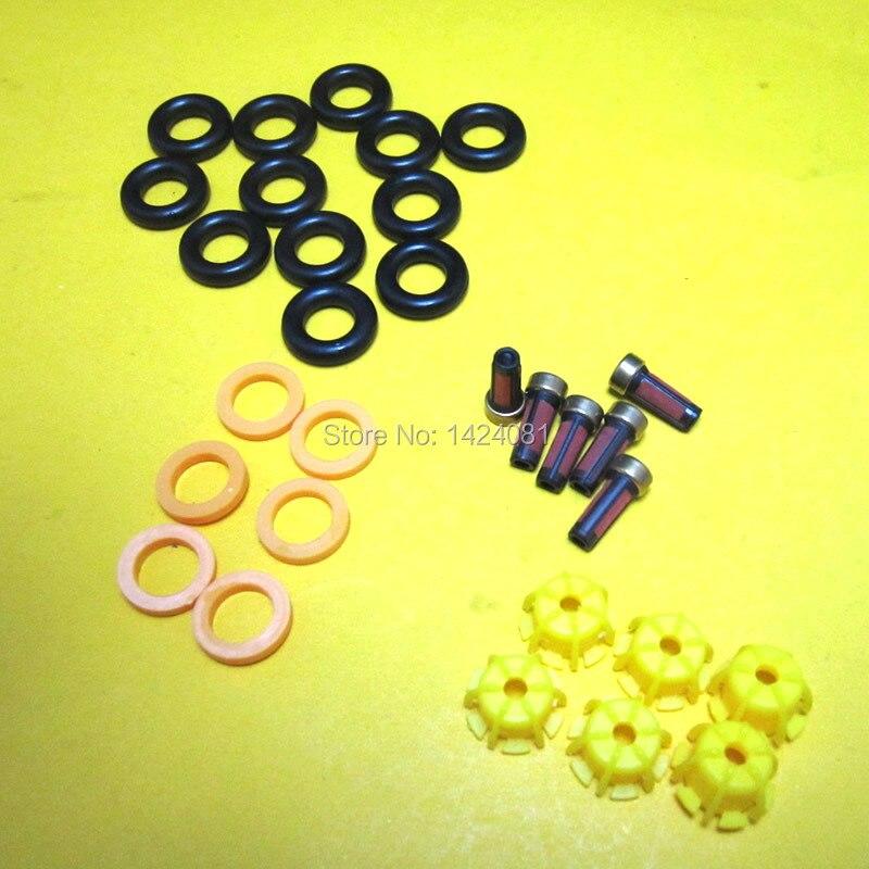6 комплектов ремонтные наборы деталей топливной форсунки инжекторы Комплект прокладок набор фильтров для BMW E60 E39 520i 523i 525i 528i Замена автомобиля