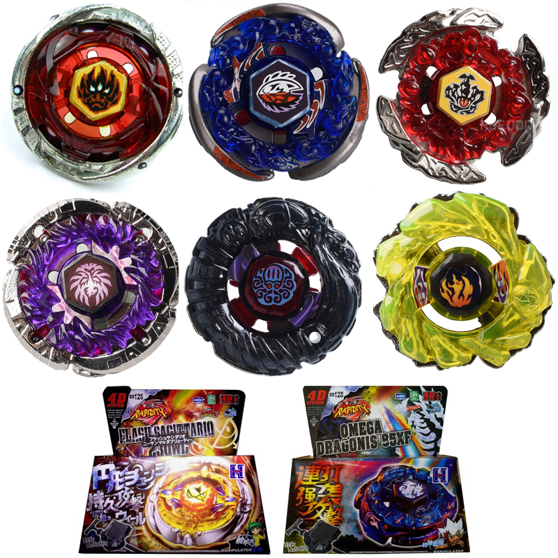 Beyblade Metal Fusion 4D Spinning Gear Set BB116 BB117 BB119 BB121 Hurtig Spinning Fighting Toy Launcher Julegave # D