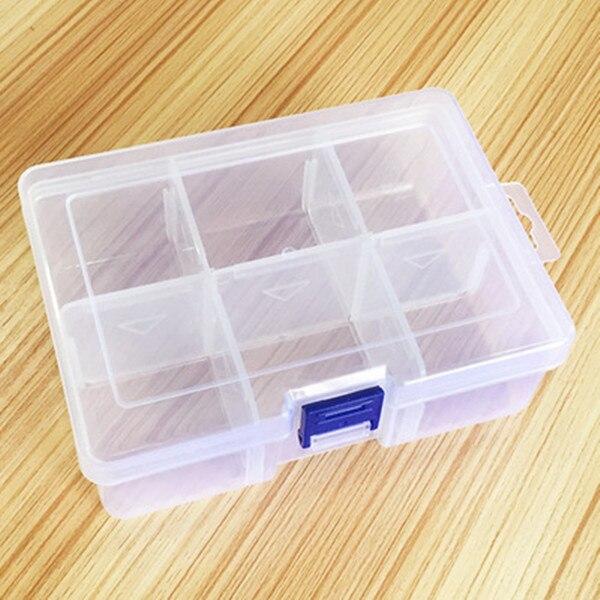 Large Plastic Storage Box Compartment Removable Transparent Firm