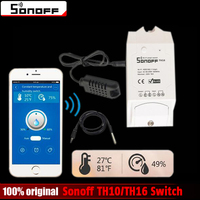 Sonoff TH10 TH16 10a 16a Smart Automation Modules Wifi Wireless Switch Remote Control For Smart Home