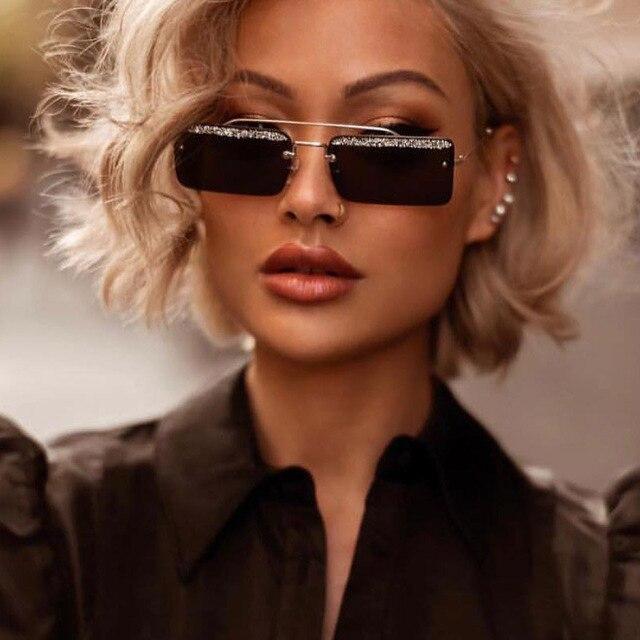 Ретро маленькие солнцезащитные очки Женские оправы Модные солнцезащитные очки мужские брендовые металлические рамы сверкающие линзы Оттенки Солнцезащитные очки женские очки