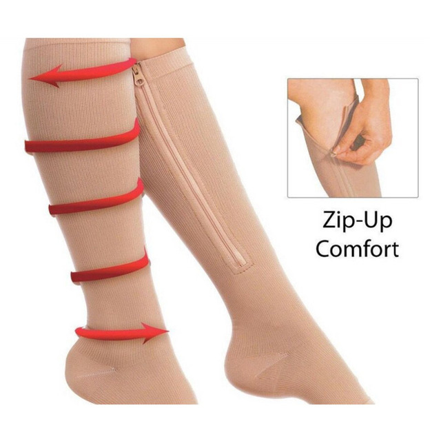 2bc173f4be Unisex Anti-Fatigue Compression Socks Foot Leg Pain Relief Solid Miracle  Copper Anti Fatigue Magic Socks Knee High Stockings