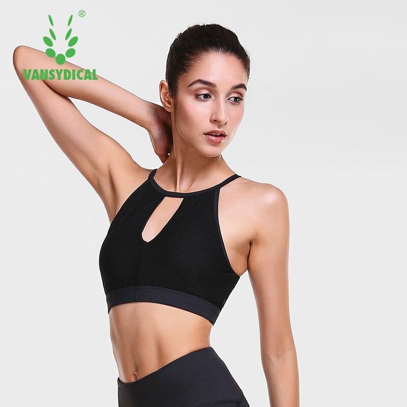 ①  Vansydical Sexy Yoga Бюстгальтер Женщины Мягкий Спортивный Бюстгальтер Shake Proof Бег Тренировки Тр ①