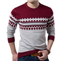 Sweater Male The New Men Fashion Cultivate One's Morality Round Collar Stripe Color Leisure Mens Clothing Sweaters