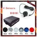 4 Sensores Buzzer 22mm Carro Kit De Sensor De Estacionamento Reverso de Backup Sistema de Alerta Sonoro Radar Sonda Indicador 12 V 7 Cores Livre grátis