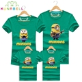 High Quality Brand Cotton Family Matching T Shirt Father Mother Shirt Kids Children Minions Short Matching Clothes Outfit Tees
