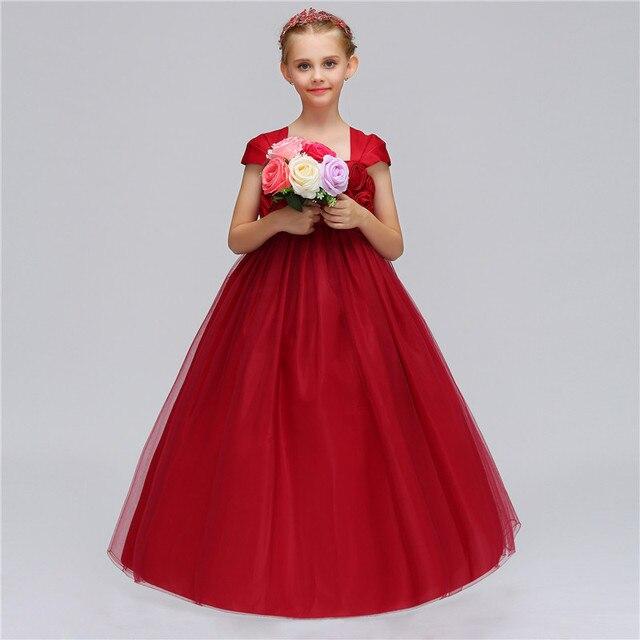 b3f2b2286e4c European Style Girls Wedding Tutu Fancy Dress Costume Christmas ...