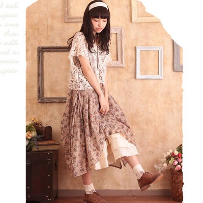 b80901d0731b Japanese Mori Girl Vintage Summer Dress Women s Casual Two Piece Outfits  Sweet Vestiti Donna Cute Female Vestido Dresses U131-in Dresses from Women s  ...