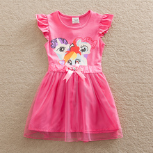 Wholesale Baby girl dress my little pony summer lace child dress girl wear kid clothes children dress baby girl clothes SD669