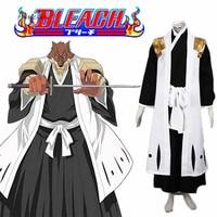 Ainclu Free Shipping Bleach Kimono Gotei Thirteen Komamura Sajin Captain of the 7th Division Soul Reaper Cosplay Costume