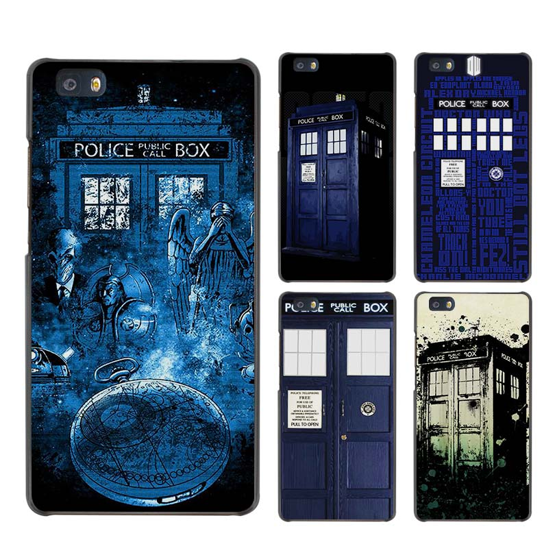 Doctor Who Hard Case Black Cover Scrub for Huawei P8 P9 Lite Plus P7 Mate S 7 8 9