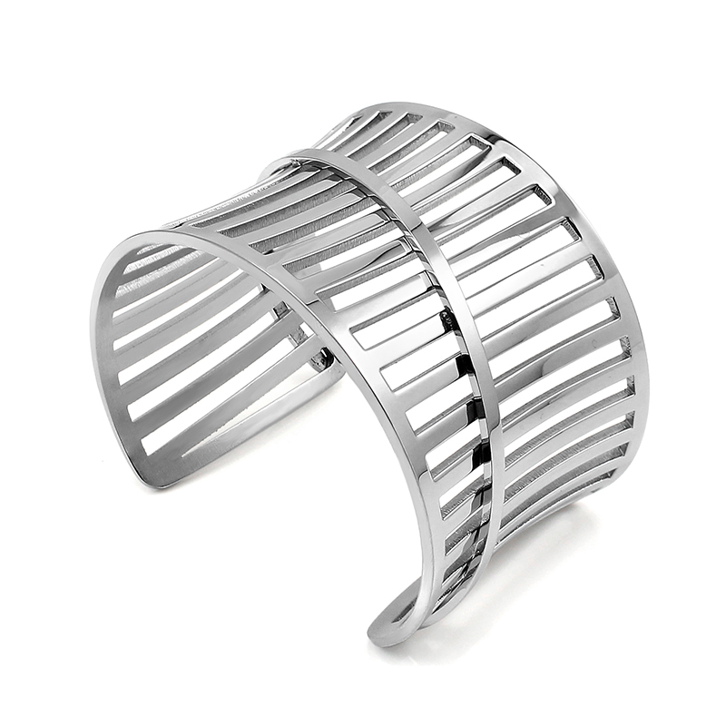 Jewellery Bracelets for Women Wedding Jewelry Party Present Luxury Stainless Steel Cuff Bracelets Bangles Charm Jewelry