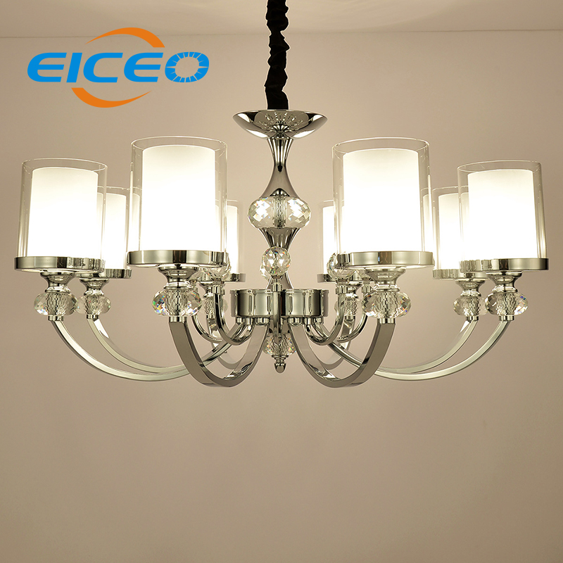 (EICEO) Crystal droplight contemporary contracted lamp bedroom lamps lanterns iron LED droplight sitting room LED Pendant Light contemporary and contracted creative personality full copper lamp droplight bedroom restaurant corridor lamps and lanterns