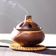 Ceramics incense burner Glaze Crafts smokehouse small censer stres zen incenso stove home decoration Crafts Vintage porcelain