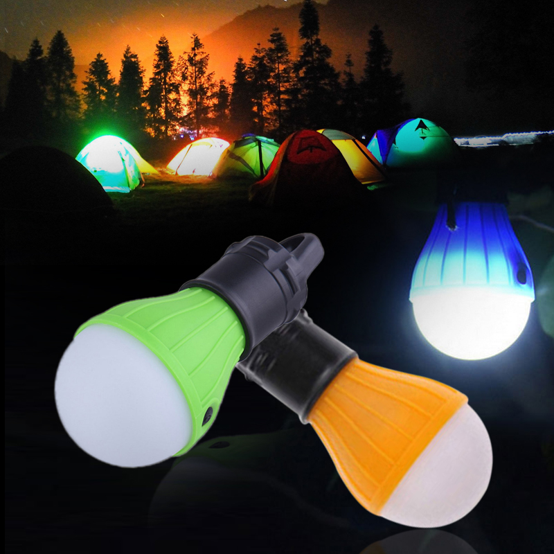 Tent Lamp Camping Lights Light Bulb Fishing Hiking Flashlight 60LM Multicolor Super Bright Portable Travel Outdoor in Portable Lanterns from Lights Lighting