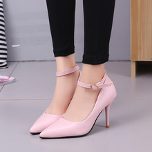 2019 autumn new sexy high heels nightclub super high heel shallow mouth shoes pointed stiletto women's shoes