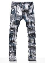Spring Camouflage Printed painting pants cotton fashion true jeans men famous brand mens jeans pants skinny jeans men trousers