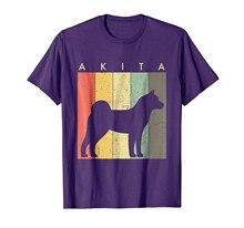brand men shirt Akita Tshirt For Dog Lovers Retro Vintage Style