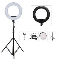 Yidoblo Black FS 480II Camera Photo Studio Phone Video 480 LED Ring Light 280cm Tripod 5500K