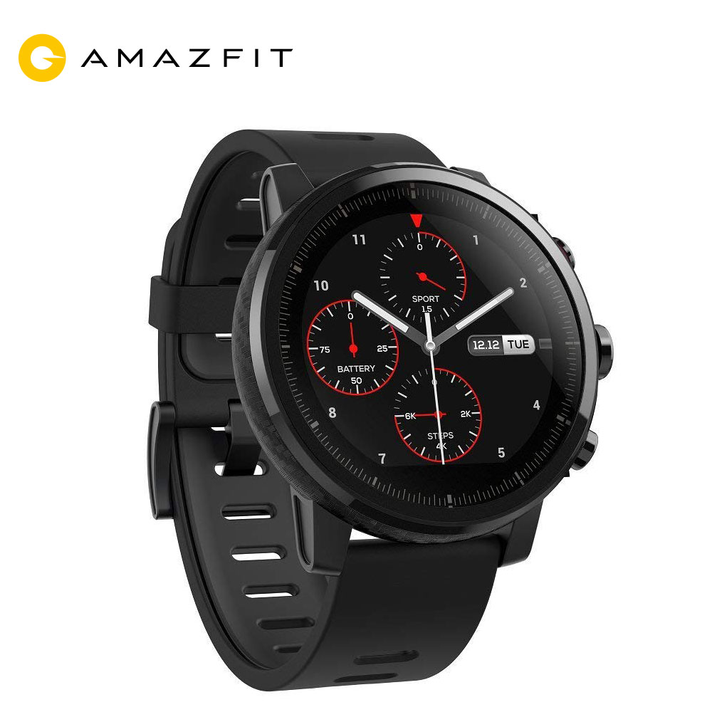 Xiaomi Mi Huami Amazfit 2 Amazfit Smart Watch Stratos Pace 2 Smart Watch Men with GPS Xiaomi Watches PPG Heart Rate Monitor 5ATM