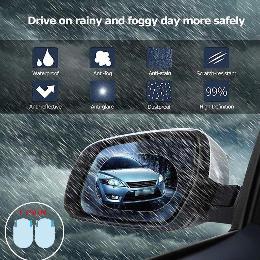 2 шт. непромокаемая Автомобильная Зеркальная Наклейка заднего вида противотуманная защитная пленка защита от дождя
