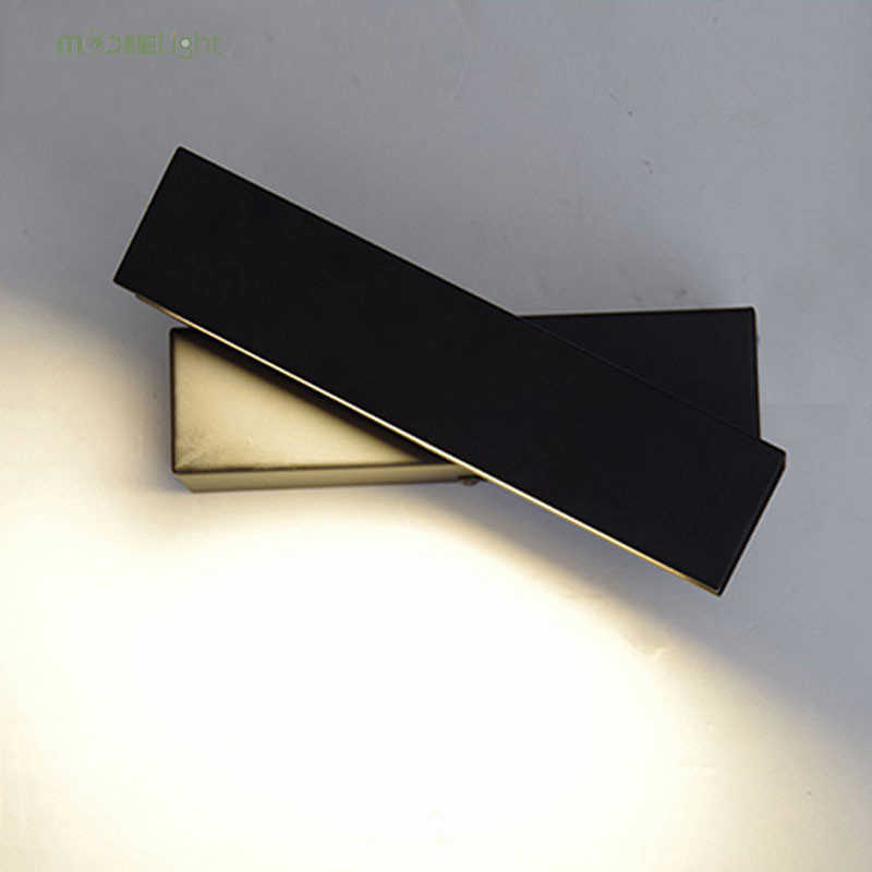 מודרני מנורת הלילה ליד מיטת קיר עץ LED מסובב מוצקים נורדי סלון חדר שינה אור מעבר אור קבועה מנורות קיר וול דקור אמנות