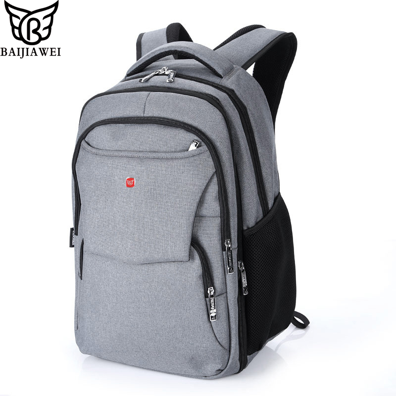 ФОТО BAIJIAWEI Brand 2017 Fashion Business Backpack for Men Travel Notebook Backpack Laptop Bag 15.6 Pattern Backpack for Women