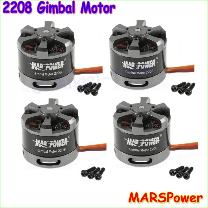 4set/lot MARSPower Brushless Gimbal Motor 2208 80T For Gopro CNC Digital Camera Mount FPV Free shipping
