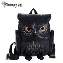 Owl Backpack Gothic Travel-Bag Women's Fashion Buyuwant PU Bw05-Bp-Gthmty Casual