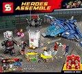 Sy583 aeropuerto bloque de construcción avengers super hero iron man super heroes montar acción ladrillos juguetes para bebés