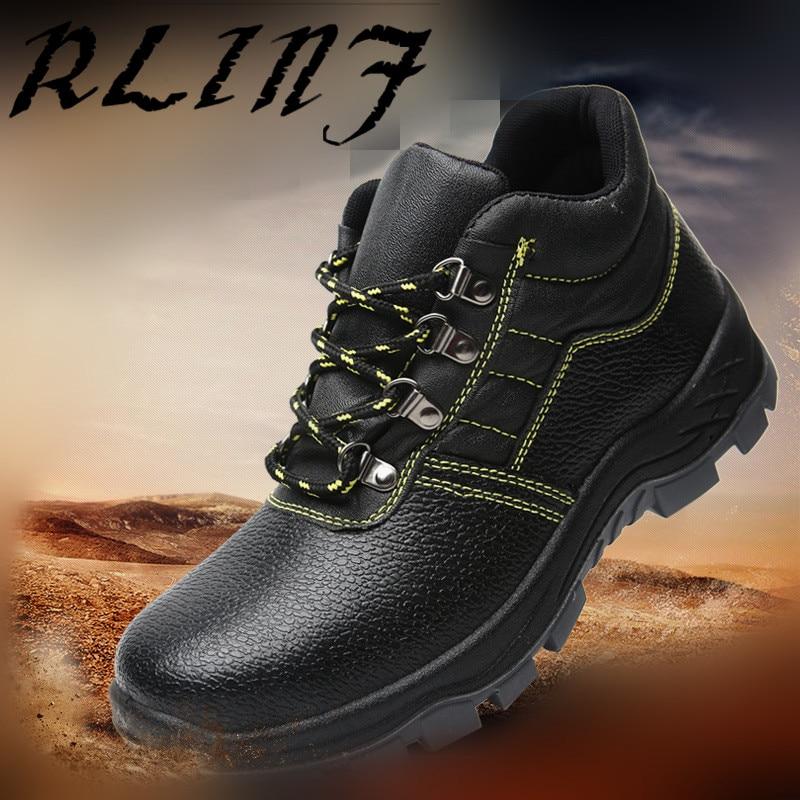Respirant Rlinf Anti piercing Anti Travail De Sécurité D'été marron Chaussures écrasement Protection bleu En Embout Noir Acier 1JTlK3uFc