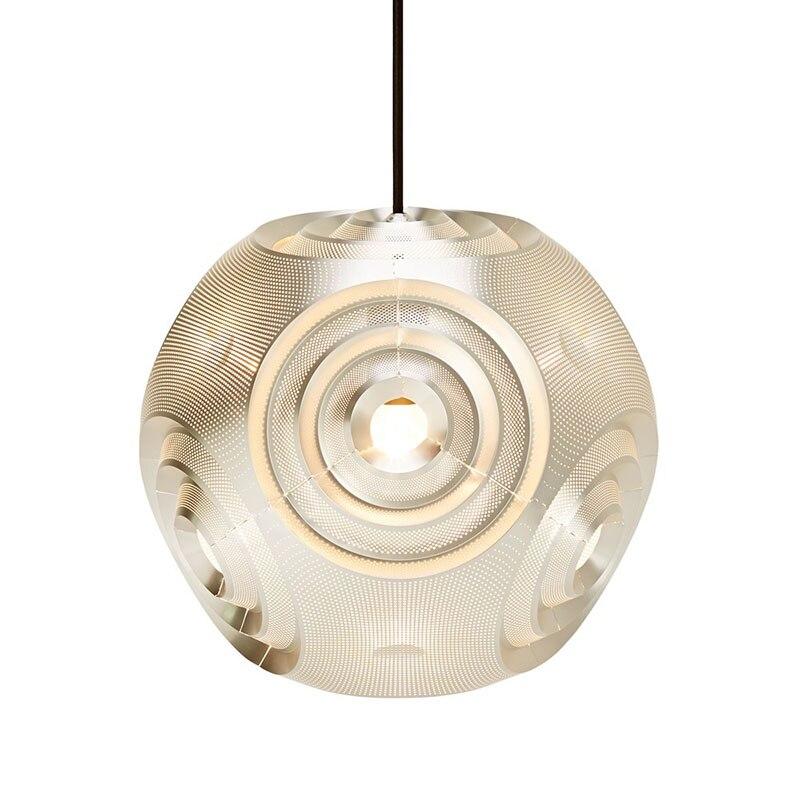 Italský designér křivka vyřezávané z nerezové oceli koule E27 závěsné světlo pro jídelnu Obývací pokoj Bar Obchod Dia 32/38 / 45cm 1450