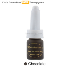 CHUSE J01 3pcs Deep Coffee Tattoo Ink Golden Rose Permanent Makeup Ink Pigment For Eyebrow Lip Tattoo with 12 Colors to Choose